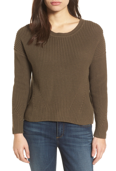 Imbracaminte Femei Lucky Brand Lace-Up Back Sweater OLIVE