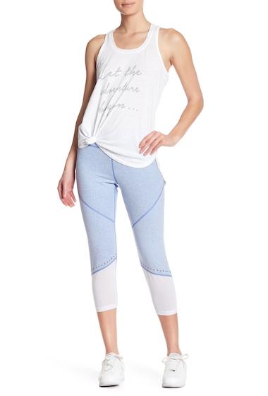 Imbracaminte Femei Nanette Lepore Perforated Mesh Panel Crop Leggings BLUE HTR