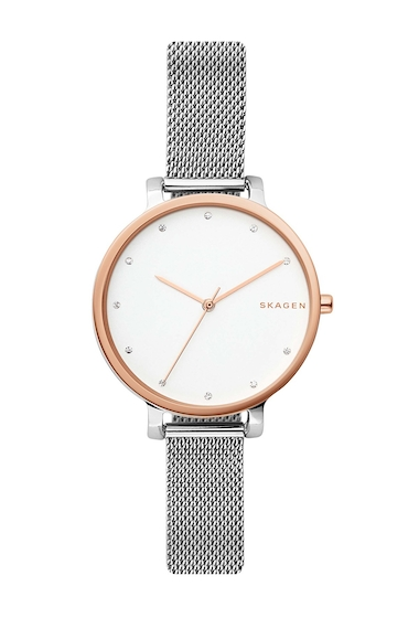 Ceasuri Femei Skagen Womens Hagen Mesh Bracelet Watch 34mm STAINLESS