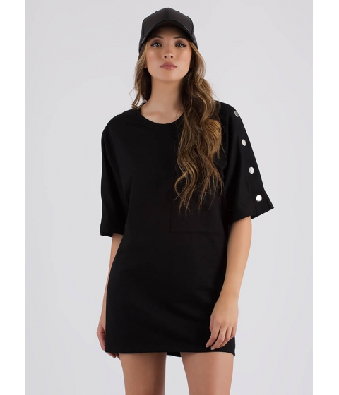 Imbracaminte Femei CheapChic Oh Snap Oversized T-shirt Dress Black