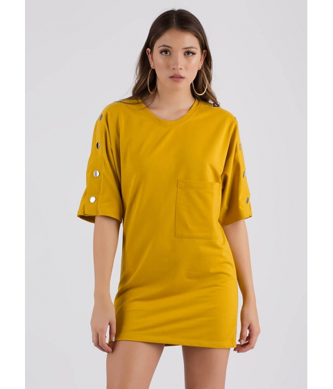 Imbracaminte Femei CheapChic Oh Snap Oversized T-shirt Dress Mustard