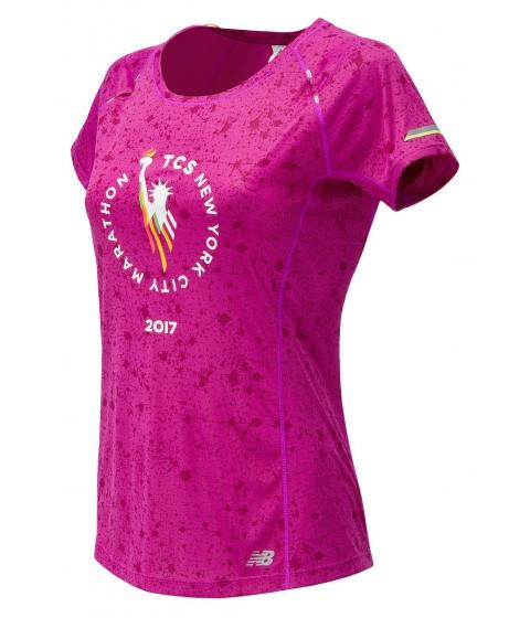 Incaltaminte Femei New Balance NYC Marathon NB Ice Printed Short Sleeve Pink