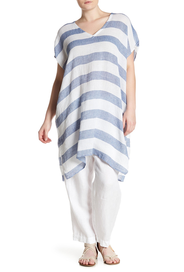 Imbracaminte Femei Eileen Fisher Stripe V-Neck Tunic Plus Size CHMBR