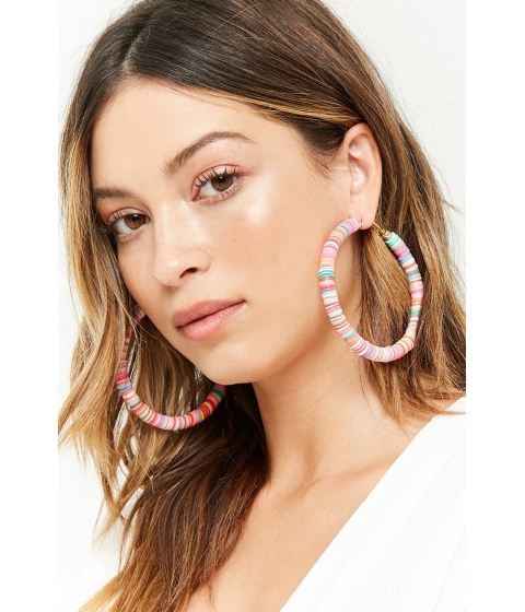Bijuterii Femei Forever21 Multicolored Hoop Earrings PINKMULTI