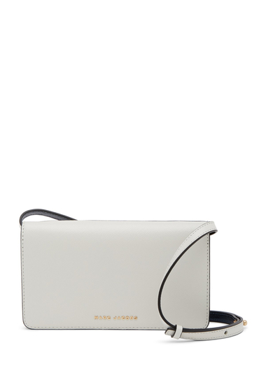 Genti Femei Marc Jacobs Leather Strapped Wallet DOVE NAVY