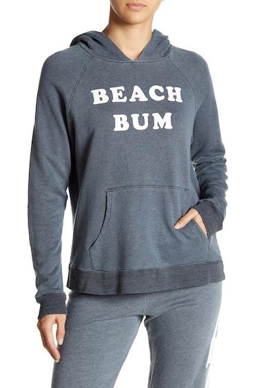 Imbracaminte Femei Sundry Beach Bum Print Hoodie PIGMENT OLD BLACK