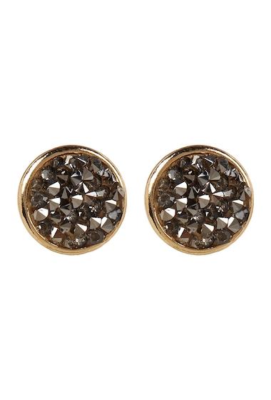 Bijuterii Femei Free Press Bezel Set Glass Crystal Dust Stud Earrings HEMGOLD