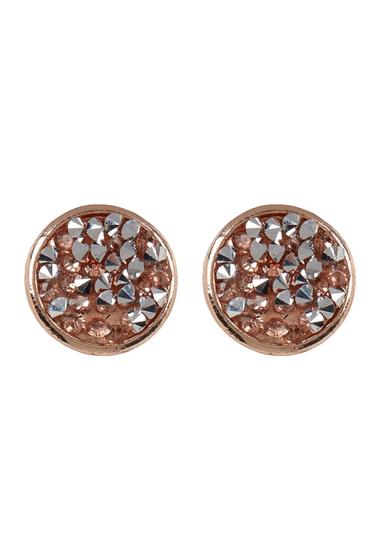 Bijuterii Femei Free Press Bezel Set Glass Crystal Dust Stud Earrings ROSEROSE GOLD
