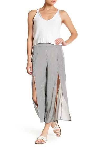 Imbracaminte Femei GOOD LUCK GEM High Waisted Split Front Pants BLKWHT