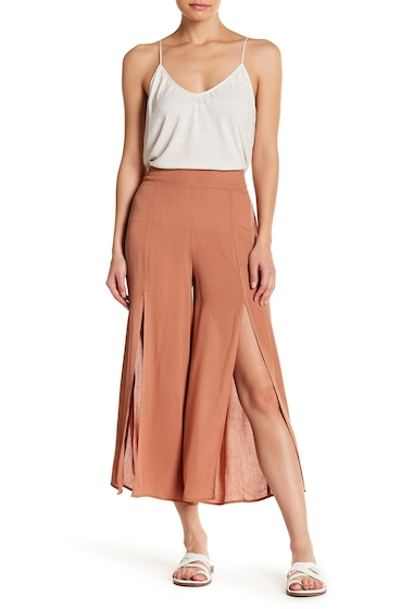 Imbracaminte Femei GOOD LUCK GEM High Waisted Split Front Pants NEW CINNAMON
