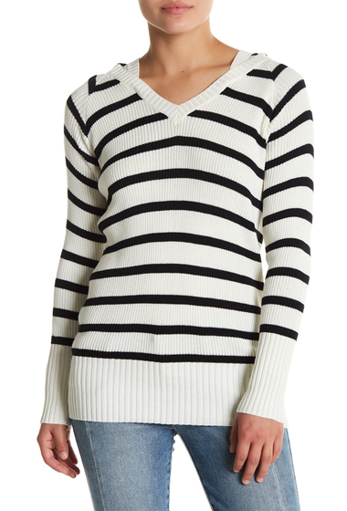 Imbracaminte Femei Chaser Stripe Ribbed Knit Pullover Hoodie STRIPE