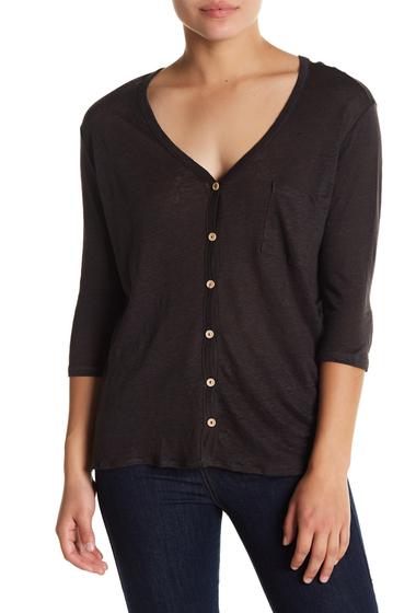 Imbracaminte Femei Chaser Pocket V-Neck Button Down Top BLK