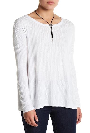 Imbracaminte Femei Chaser Split Back Textured Knit Top WHT