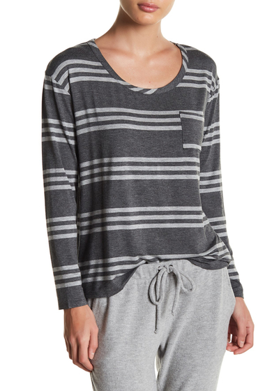 Imbracaminte Femei Chaser Striped Long Sleeve Pocket Tee STRIPE