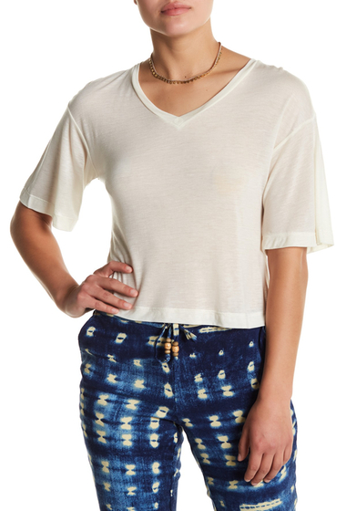 Imbracaminte Femei Chaser Split Back 34 Sleeve Solid Top WHT