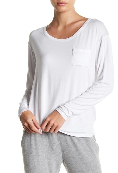 Imbracaminte Femei Chaser Long Sleeve Pocket Tee WHT