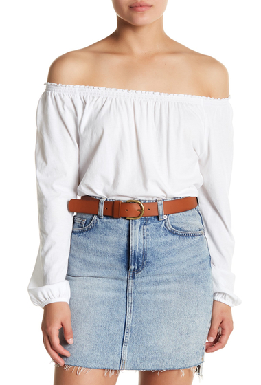 Imbracaminte Femei Chaser Shirred Off-the-Shoulder Long Sleeve Top WHT