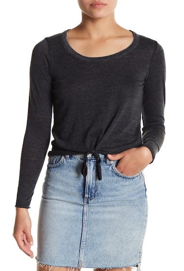 Imbracaminte Femei Chaser Knotted Long Sleeve Tee BLK