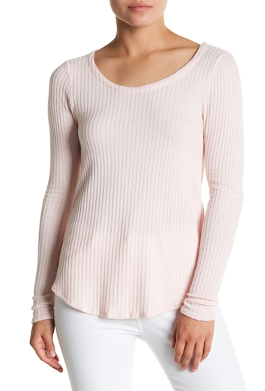 Imbracaminte Femei Chaser T-Back Textured Knit Long Sleeve Tee GLSS