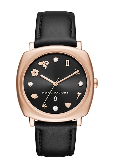 Ceasuri Femei Marc Jacobs Womens Mandy Leather Watch 34mm NO COLOR