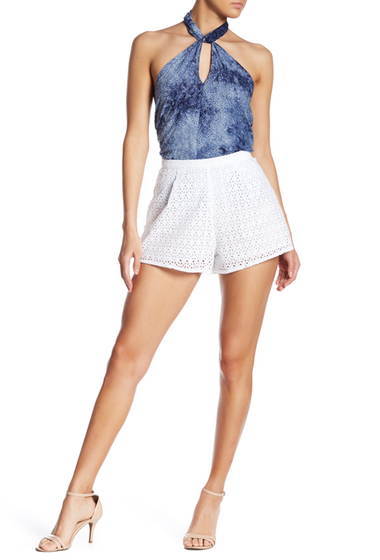 Imbracaminte Femei Line Dot Gaby Lace Shorts WHITE
