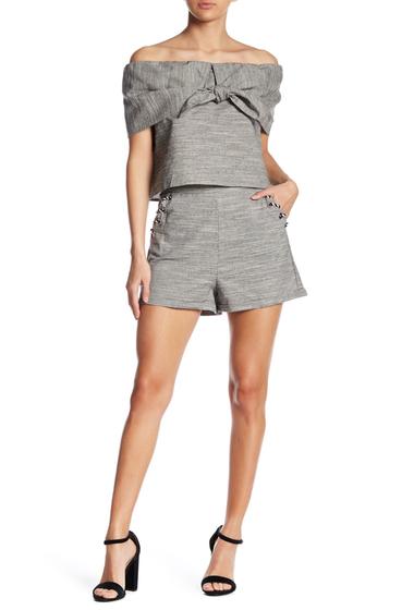 Imbracaminte Femei Line Dot Bellen Grommet Shorts BLACK