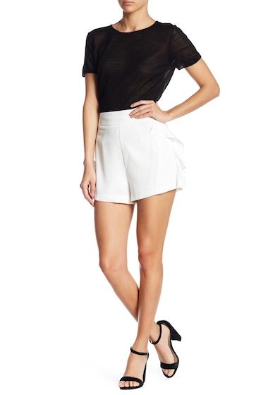 Imbracaminte Femei Line Dot Oscar Woven Side Ruffle Shorts WHITE