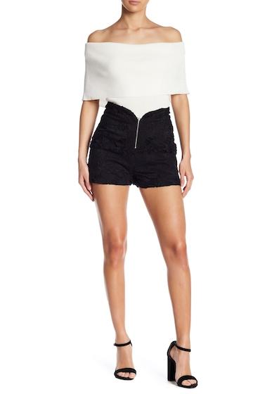 Imbracaminte Femei Line Dot Ganen Lace Shorts BLACK