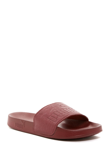 Incaltaminte Femei PUMA Leadcat Embossed Slide Sandal RED
