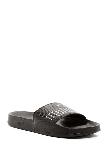 Incaltaminte Femei PUMA Leadcat Embossed Slide Sandal BLACK
