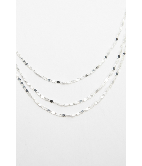 Bijuterii Femei Forever21 Layered Hammered Link Chain Necklace SILVER