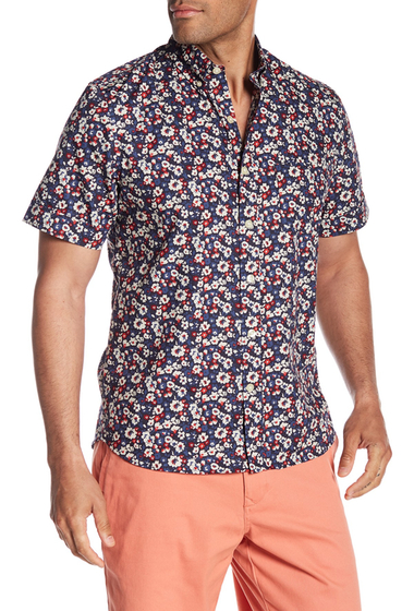 Imbracaminte Barbati Kennington Flower Fields Short Sleeve Shirt NAVY