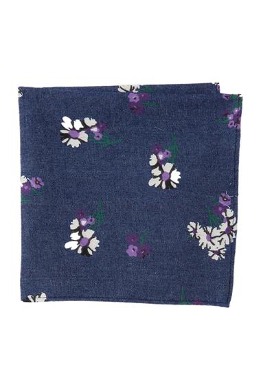 Accesorii Barbati 14th Union Corella Floral Pocket Square BLUE