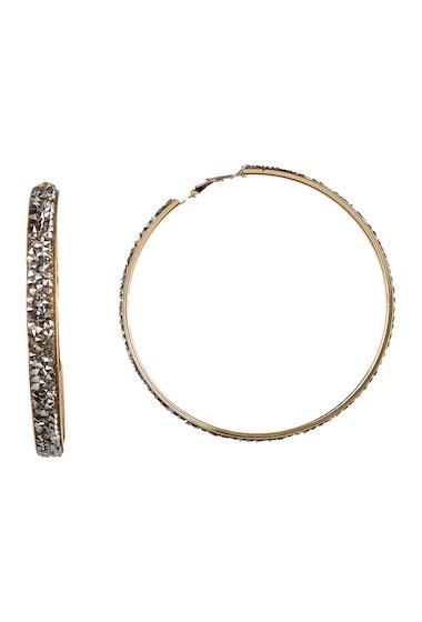 Bijuterii Femei Free Press Glass Crystal Dust Hoop Earrings HEMGOLD