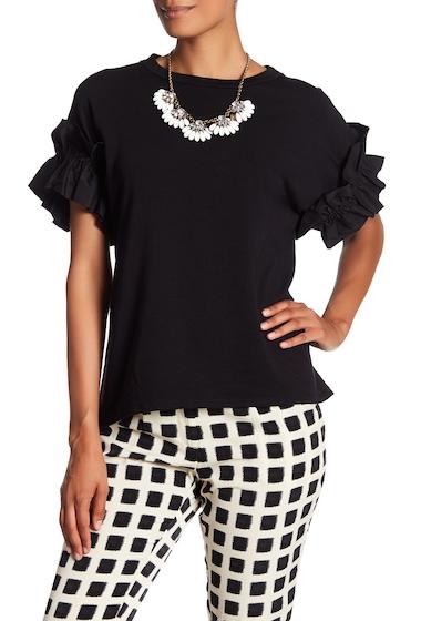 Imbracaminte Femei Ro De Short Ruffle Sleeve Sweatshirt BLACK