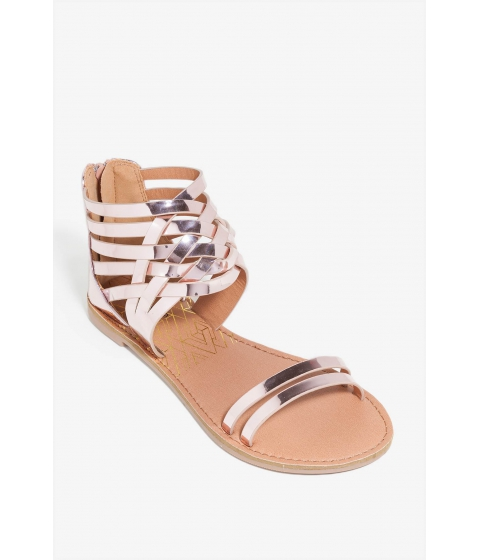 Incaltaminte Femei CheapChic More Flower To You Sandal Rose Gold