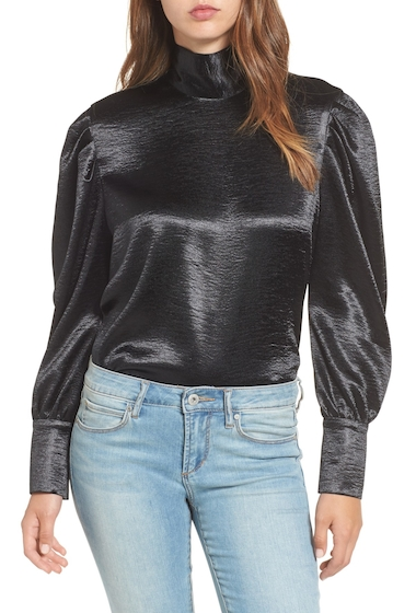 Imbracaminte Femei Leith Bloused Sleeve Top BLACK