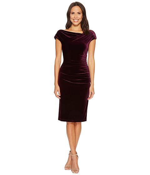 Imbracaminte Femei Vince Camuto Velvet Bodycon Dress w Ruching Crossbody Aubergine