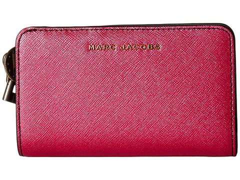 Bijuterii Femei Marc Jacobs Metallic Saffiano Compact Wallet Pink