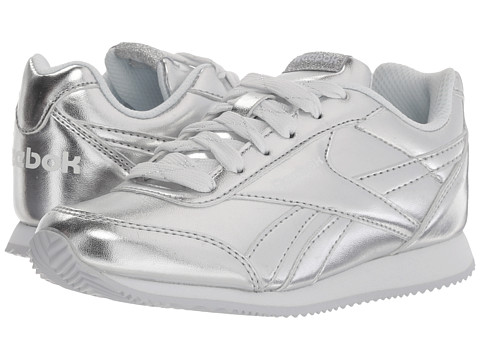 Incaltaminte Fete Reebok Royal CL Jogger 2 (Little KidBig Kid) Silver MetallicWhite