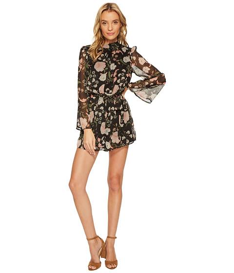 Imbracaminte Femei BB Dakota Tullia Floral Printed Romper Black