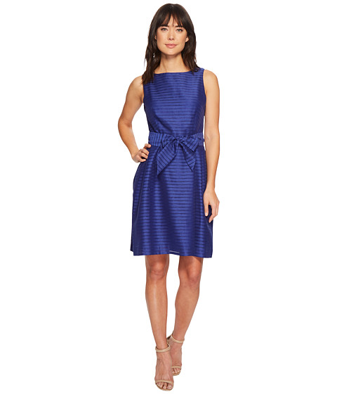 Imbracaminte Femei Anne Klein Fit amp Flare with Sash Dress OKeefe Blue