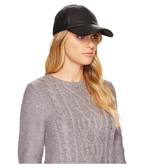 Accesorii Femei UGG Leather Baseball Hat Black Multi