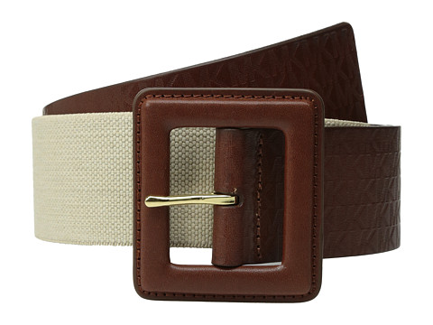 Accesorii Femei MICHAEL Michael Kors 50mm Monogram Panel Belt on Self Cover Buckle Luggage