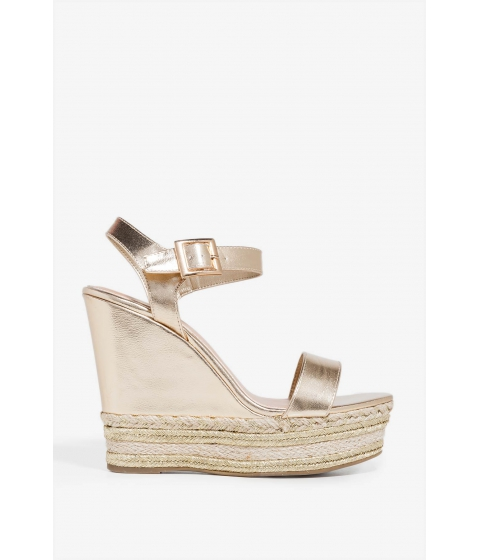 Incaltaminte Femei CheapChic Life Is Nothing But Wedge Metallic Gold