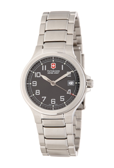 Ceasuri Barbati Victorinox Swiss Army Mens Peak II Bracelet Watch 32mm BLACK