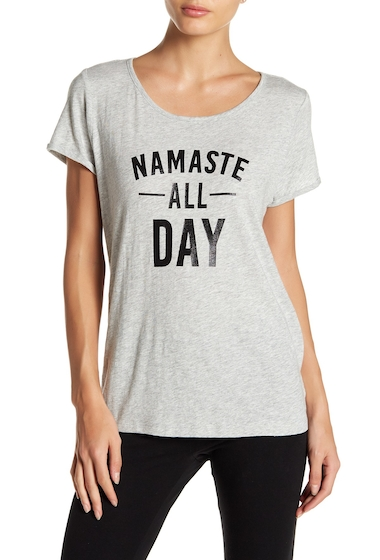 Imbracaminte Femei Marc New York Namaste All Day Graphic Tee LT GREY HE
