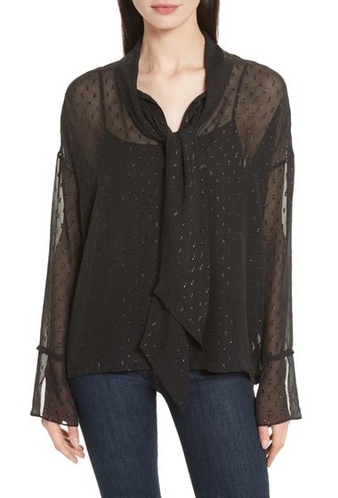 Imbracaminte Femei Theory Metallic Silk Scarf Shirt BLK