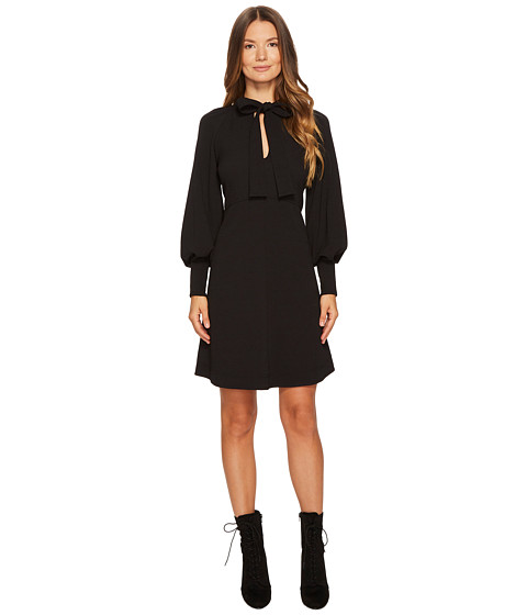 Imbracaminte Femei See by Chloe Crepe Dress with Neck Tie Black