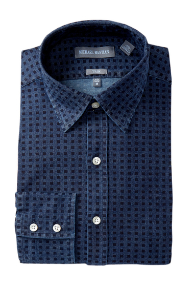 Imbracaminte Barbati MICHAEL BASTIAN Trim Fit Denim Dress Shirt DENIM